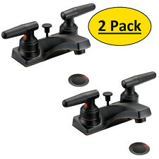 *2 Pack* Designers Impressions Oil Rubbed Bronze Bathroom Vanity Faucet  #655731