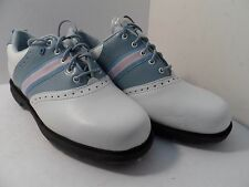 Dexter Women's Vineyard Golf Spike Shoe White/Blue/Pink Size 7M NWOB!!!!!!!!