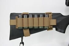 AAT Coyote Brown Shotgun Pouch 6 Shell Stock Harness Spec USA Made