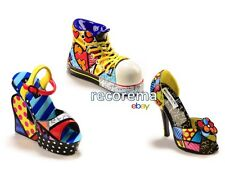 LOT OF 3 MINI ROMERO BRITTO SHOE FIGURINES * MINIATURES  * NEW * GIFT BOXED EACH