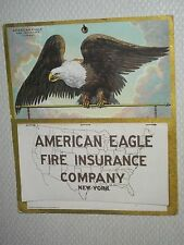 1919 Calendar AMERICAN EAGLE FIRE INSURANCE NOS  WWI Complete N.Y. CHICAGO Litho