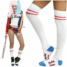 Suicide Squad Harley Quinn Over the Knee High Cosplay Socks DC Comics 1 PAIR NEW