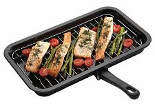 Kitchen Craft Enamel Grill Pan. 40cm x 23cm