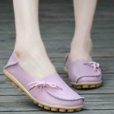 @Women Knot Leather Shoes Casual  Slip On Flats Loafers Single Shoes Hot 39