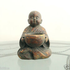 120mm height Chinese buddha Statue Gilt Lovely sleeping little monk Statue