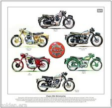 Classic BSA motocicli-FINE ART PRINT-STAR TWIN ROCKET GOLD STAR Bantam B31