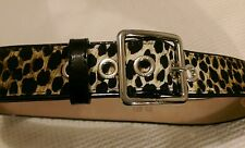Genuine D&G Dolce & Gabbana leopard print belt  made in Italy 85cm 34 inch NEW