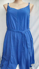 Crossroads Amethyst Beach sun DRESS asymmetrical hanky hem 22 + belt + pockets