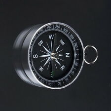 Brass Pocket Watch Style Outdoor Camping Hiking Compass Navigation Keychain KB