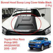 Bonnet Hood Scoop Cover Trim Matte Black for Toyota Hilux Revo 4WD 2WD 15 - 17