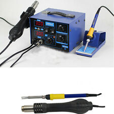 2in1 YiHua 862D+ 110V SMD ESD Rework Soldering Station Hot Air Gun + Iron Handle