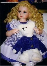 """MARIE OSMOND BEARY BEST FRIENDS  14"""" SEATED PORCELAIN  DOLL NEW IN BOX!"""