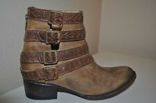 NEW FREEBIRD By Steven ROPER Leather Ankle Boot Light Brown Sz 7 Womens