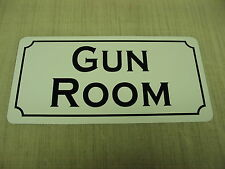 GUN ROOM Sign 4 Hunting Military Shop Machine Club Tank Safe Armory Collector