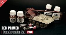 Mig Productions Transformation Set Red Primed Vehicles (with Guide) P258