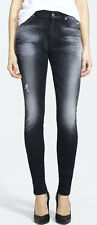 $215 7 SEVEN FOR ALL MANKIND JEANS HIGH WAIST SKINNY ULTIMATE ICY BLACK 26 X 31