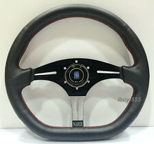 Nardi Racing Style Steering Wheel 350mm Black Perf Leather OMP MOMO Drift Rally