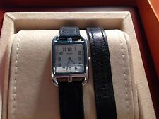 HERMES CAPE COD PM DOUBLE TOUR LADIES WATCH WITH BOX AND BOOKLETS