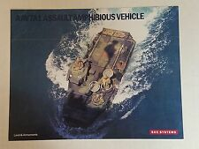 AAV7A1 Assault Amphibious Vehicle Data Sheet / BAE Systems NEW