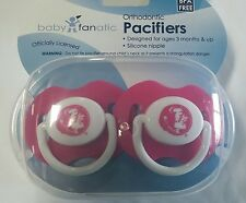 Florida State Seminoles PINK Baby Infant Pacifiers NCAA NEW  2 Pack SHOWER GIFT!