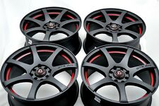 15 Drift matt black wheels rims MR2 Corolla Forenza Fit Yaris Aveo 4x100 4x114.3
