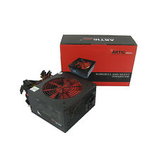 QUIET ARTIC RED 550W ATX PSU - SATA - MOLEX - 24 &4 PIN - COOL RUNNING 120mm FAN