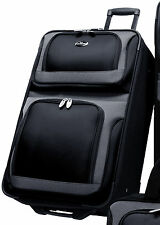 "US Traveler New Yorker Black 25"" Lightweight Expand Rolling Suitcase Luggage Bag"