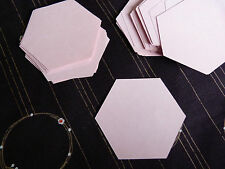 "1 1/2"" Hexagon Templates - English Paper Piecing Quilting / Patchwork   x 75"