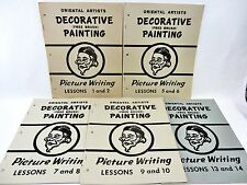 Oriental Artists Decorative Asian Free Brush Painting LESSONS missing 3,4,11&12