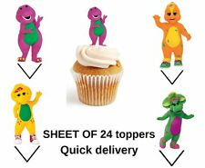 barney WAFER PAPER CAKE TOPPERS X24 sheet stand ups