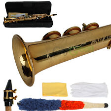 New 17001261 Bb Soprano Saxophone Carving with Abalone Shell Buttons