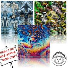 HYDROGRAPHIC FILM WATER TRANSFER PRINTING FILM HYDRO DIP OIL SLICK 3 PACK