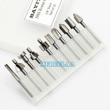 "10PCS 1/8"" 3mm Mini Shank HSS Burr Router Bits Files Fits Rotary Tool Set"