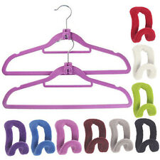 Creative Mini Flocking Clothes Hanger Easy Hook Closet Organizer Hot Sell Now