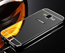 Luxury Metal Frame Mirror Back Cover Case Bumper Skin For Samsung Galaxy On5/On7
