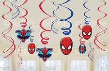 Ultimate SPIDERMAN Da Appendere a Vortice Decorazioni Bambini Festa Di Compleanno x6