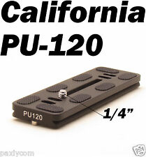 PU-120 Quick Release Plate For Benro B0 B1 B2 J1 N1 Tripod ball head Arca Swiss