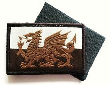 WELSH DRAGON PATCH Military forces velcro backed UBAC desert ops tan flag badge