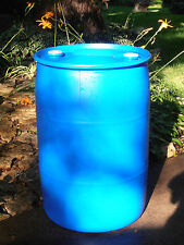 "PLASTIC BARREL 55 GALLON HDPE - Blue - ""FOOD  GRADE"" Closed Top Barrel-  2 Bungs"