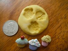 Unique, Very Detailed 3 Part Miniature Cupcake Flexible Silicone Mold