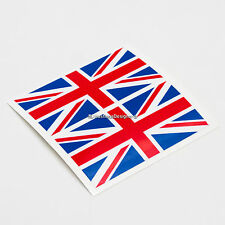 2x UK Bandiera Britannica Union Jack Laminato Auto, finestra, Adesivi Decalcomania in Vinile Paraurti