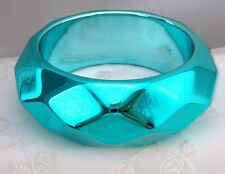 Metallic Blue Bangle Bracelet Jewel in Texture Fashion Jewerly brand NEW