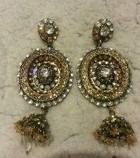 GORGEOUS antique  Big/heavy asian earings for special occasion
