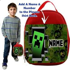 Personalised EAT SLEEP mine GAMER BLUE Lunch Bag Insulated Cool Box SCHOOL