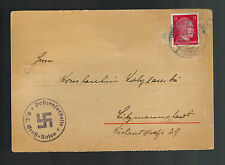 1943 Germany Gross Rosen Concentration Camp Kz Letter Cover to Litzmannstadt