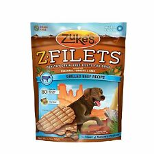 Zuke's Z-Filets Dog Treats Prime Beef Strips 3.25 oz.