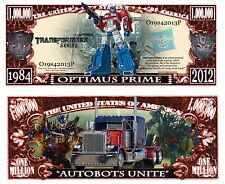 Transformers Optimus Prime Novelty Dollars with Protector and Free shipping