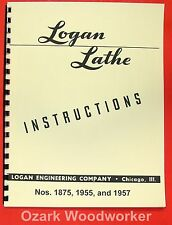 LOGAN 1875, 1955, 1957 Metal Lathes Instructions Manual 0944
