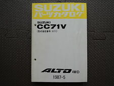 JDM SUZUKI ALTO 4WD CC71V Original Genuine Parts List Catalog Japanese Kei Car