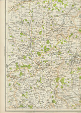 2310 1898 MAP of Royal Atlas of England & Wales Pl.36 BEDFORD (Bedfordshire)